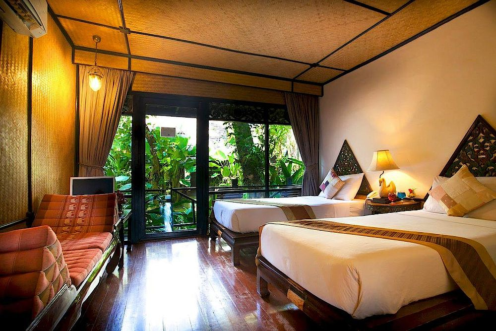 Zimmer, Lampang River Lodge, Thailand Reise