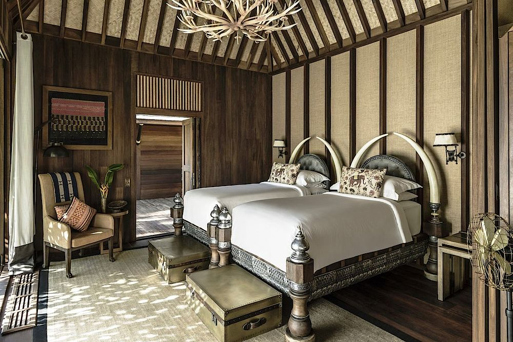 Zimmer im Four Seasons Tented Camp Golden Triangle, Thailand Reise