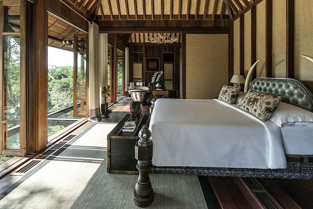 Zimmerbeispiel im Four Seasons Tented Camp Golden Triangle, Thailand Reise